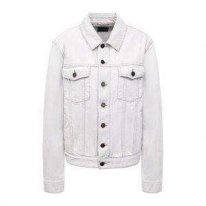 Джинсовая куртка Saint Laurent. Цвет: белый