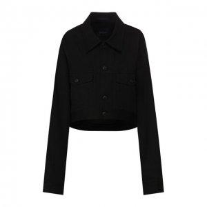 Джинсовая куртка Yohji Yamamoto. Цвет: чёрный