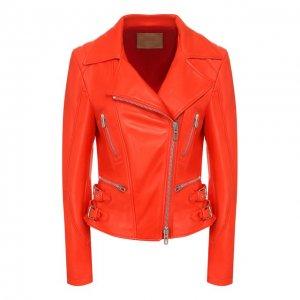 Кожаная куртка DROMe. Цвет: красный