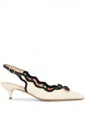 Туфли с бантом Charlotte Olympia. Цвет: белый