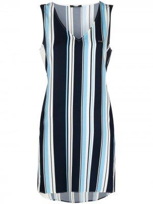 Платье-трапеция в полоску LIU JO. Цвет: синий