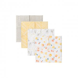 Набор из четырех муслиновых пеленок Aden+Anais. Цвет: разноцветный