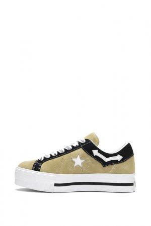 Кеды Converse. Цвет: brown, white