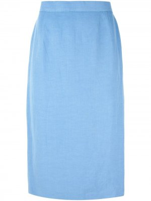 Классическая юбка карандаш Louis Feraud Pre-Owned. Цвет: синий