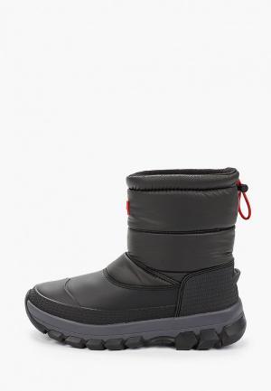 Дутики Hunter WOMENS ORIGINAL INSULATED SNOW BOOT SHORT. Цвет: черный
