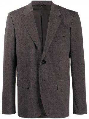 Однобортный пиджак Helmut Lang. Цвет: серый