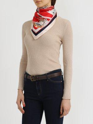 Шелковый платок Korpo. Цвет: krasnyy