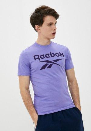 Футболка Reebok RI BIG LOGO TEE. Цвет: фиолетовый