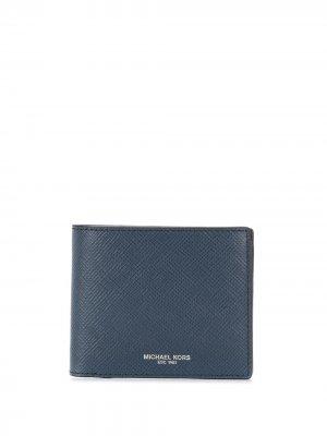 Бумажник Harrison Michael Kors Collection. Цвет: синий