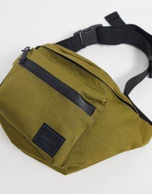Сумка-кошелек на пояс цвета хаки -Зеленый Herschel Supply Co