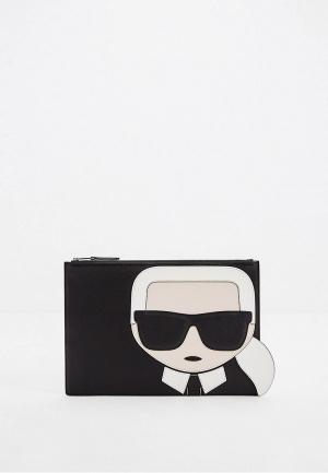 Клатч Karl Lagerfeld IKONIK. Цвет: черный