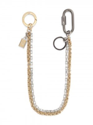 Multi-chain logo-plaque keyring Dolce & Gabbana. Цвет: серебристый