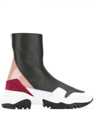Ботинки-кроссовки без застежки A.F.Vandevorst. Цвет: белый