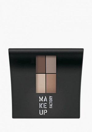 Тени для век Make Up Factory 4-х цветные т.070 коричн/св.коричн/св.беж/серый беж, 4.8 г. Цвет: разноцветный