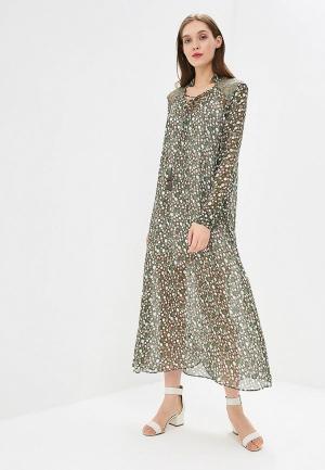 Платье Elena Andriadi MP002XW195FI. Цвет: зеленый