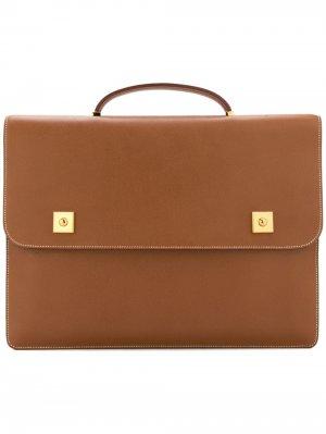 Портфель Danube pre-owned Hermès. Цвет: коричневый