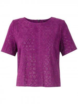 Блузка Corações Eva. Цвет: фиолетовый