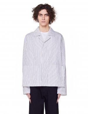 Хлопковый пиджак в полоску Maison Margiela