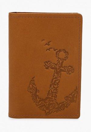 Обложка для паспорта Modaprint. Цвет: коричневый
