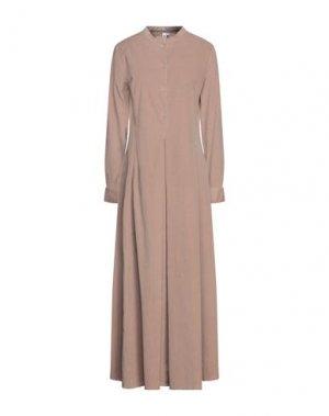 Длинное платье EUROPEAN CULTURE. Цвет: хаки