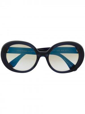 Солнцезащитные очки Erissa Oliver Peoples. Цвет: синий