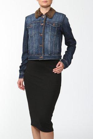 Куртка джинсовая Joe's Jeans. Цвет: синий