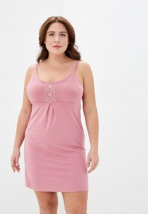 Сорочка ночная El Fa Mei. Цвет: розовый