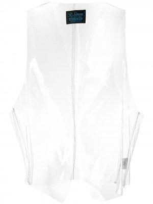 Прозрачный жилет без застежки Raf Simons. Цвет: белый