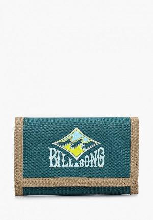 Кошелек Billabong ATOM WALLET. Цвет: зеленый