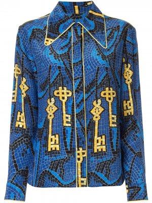 Рубашка Ara Karen Walker. Цвет: синий