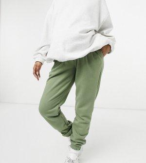 Шалфейно-зеленые домашние джоггеры для беременных из экологичного трикотажа Maternity-Зеленый цвет Chelsea Peers