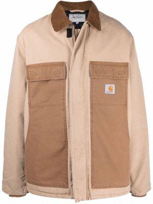 Пальто из органического хлопка с нашивкой-логотипом Carhartt WIP. Цвет: коричневый