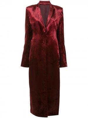 Удлиненное пальто Ann Demeulemeester. Цвет: красный