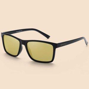Мужские поляризованные солнцезащитные очки SHEIN. Цвет: жёлтые