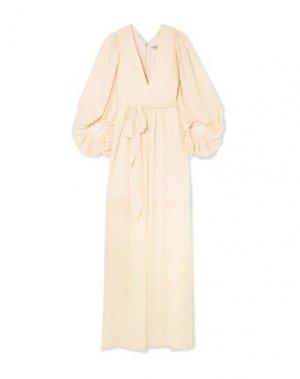 Длинное платье HALSTON. Цвет: слоновая кость