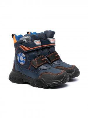 Ботинки с нашивкой-логотипом Geox Kids. Цвет: синий
