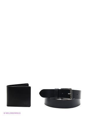 Ремень и кошелек Levi's®. Цвет: черный