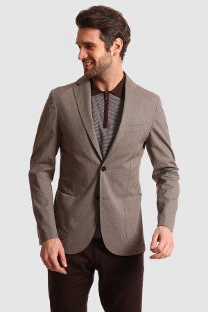 Пиджак приталенный из хлопка KANZLER