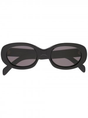 Затемненные солнцезащитные очки в квадратной оправе Celine Eyewear. Цвет: черный