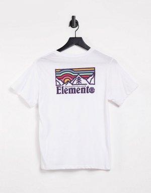 Белая футболка Landscape-Белый Element