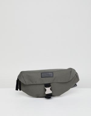 Серая сумка-кошелек на пояс Consigned. Цвет: серый