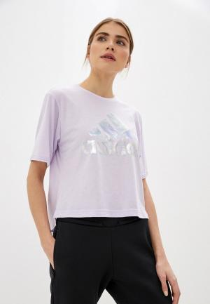 Футболка adidas UNIV TEE 2 W. Цвет: фиолетовый
