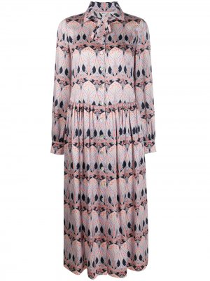 Платье-рубашка Etoile De Mer Liberty London. Цвет: синий