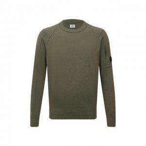 Шерстяной свитер C.P. Company. Цвет: хаки