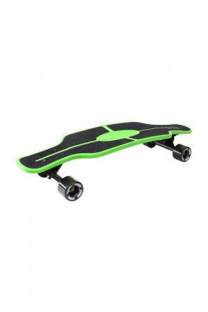 Скейтборд с сумкой Y-SCOO. Цвет: зеленый, черный