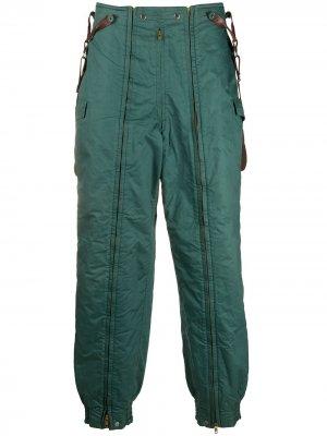 Дутые брюки 1970-х годов с подтяжками Issey Miyake Pre-Owned. Цвет: зеленый