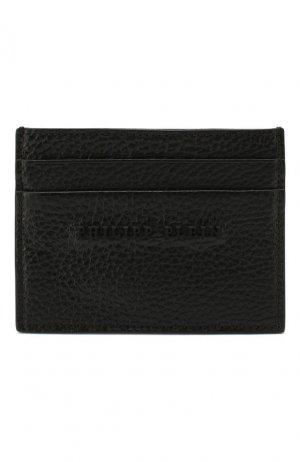 Кожаный футляр для кредитных карт Philipp Plein. Цвет: чёрный