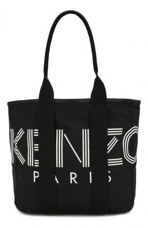 Текстильная сумка-шопер Kenzo. Цвет: чёрный
