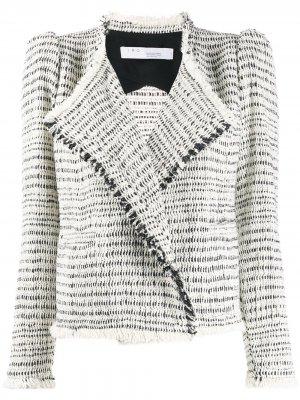 Твидовый приталенный пиджак IRO. Цвет: нейтральные цвета