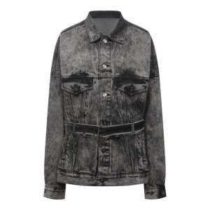 Джинсовая куртка DANIILBERG. Цвет: серый